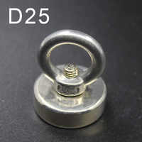 1pcs D25 Neodymium Magnet NdfeB N35 Super Powerful Strong Permanent Magnetic Treasure Hunting Underwater Fishing imanes