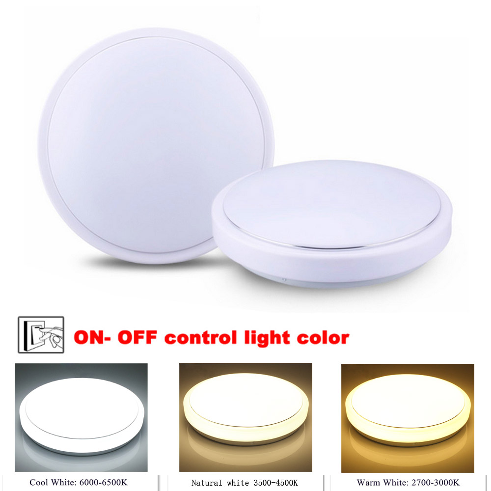 NEW Modern 24W LED Ceiling Light Cool white+ Natural white+Warm white Smart LED Lamp AC100 - 240V