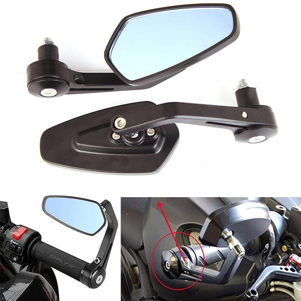 CHROME BLADE ALUMINUM CUSTOM MOTORCYCLE REARVIEW MIRRORS CNC FOR HARLEY CRUISER