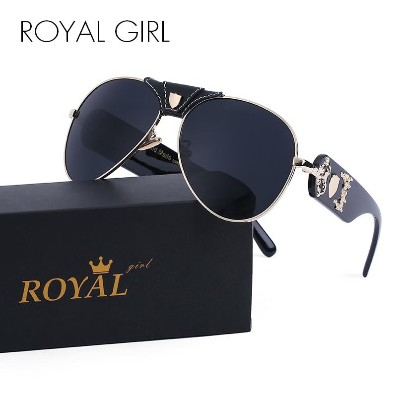 ROYAL GIRL Brand Classic Black Sunglasses Hombres Driving Sun Gafas para hombre Shades Eyewear Oculos ss175
