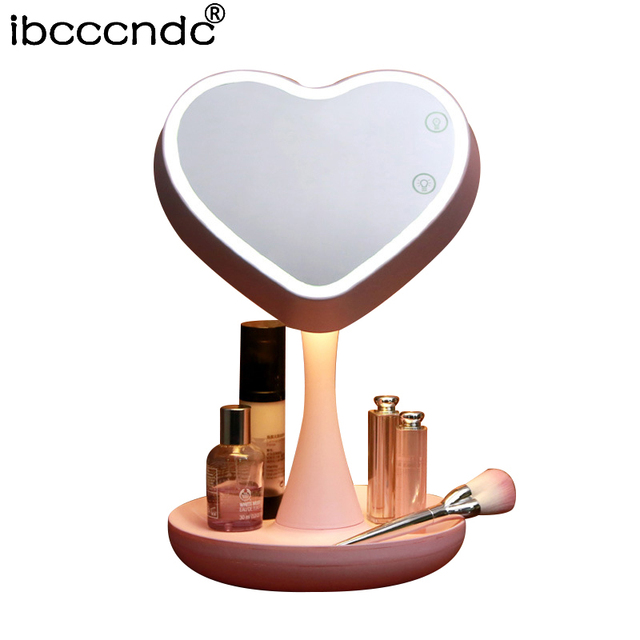 New adjustable usb led lighted makeup mirror touch screen portable new adjustable usb led lighted makeup mirror touch screen portable magnifying vanity tabletop lamp cosmetic mirror aloadofball Images