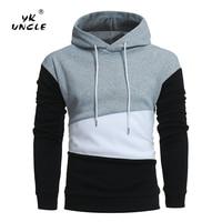 YK UNCLE Brand 2017 New Fashion Hoodies Men Multi Color Stitching Sweatshirts Male Hoody Hip Hop