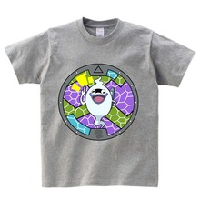 Yo-kai Watch T-shirt boy summer t-shirt kids print tshirt anime t shirt children brand clothing Multi-color O-Neck tee girl  NN