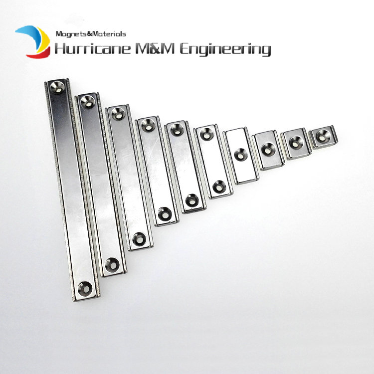 12pcs Toolholder 100x13.5x5mm Rectangle Block Pot Magnet with Countersunk M3 Screw Hole Clamp Neodymium Strong Holding Magnet 4pcs d48mm strong attracting force neodymium magnet pot with a countersunk hole working fixture antenna camera magnetic bases