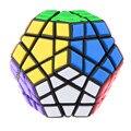 12-Color Adesivo PVC Poligonal IQ Test Cubo Mágico Megaminx MF8 Enigma Cubos De Brinquedos Para As Crianças-Preto