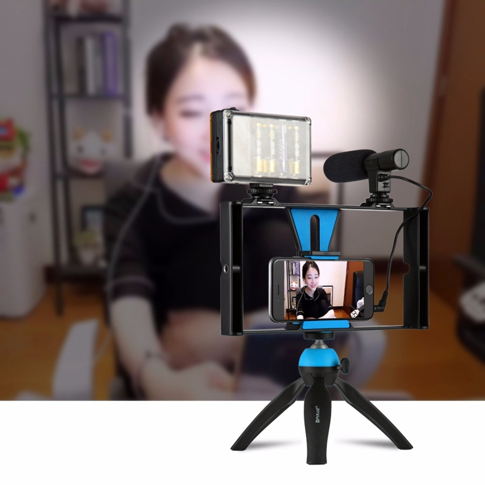 5-in-1 Handheld Movie Making Set Phone Video Rig Mount With Stereo Microphone 96LED Studio Light Mini Tripod пуховик daniel hechter daniel hechter da579emxwx37