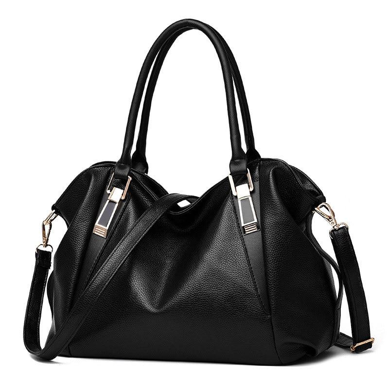 купить Elegant Black Casual PU Women Handbag Classic Office Lady Shoulder Bag Zipper Crossbody Messenger по цене 3844.24 рублей