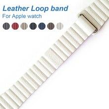 Laço de couro relógio Banda para Apple Série 3/2 Ajustável Fecho magnético Loop Cinta faixas de Relógio de pulseira para apple 42mm 38mm