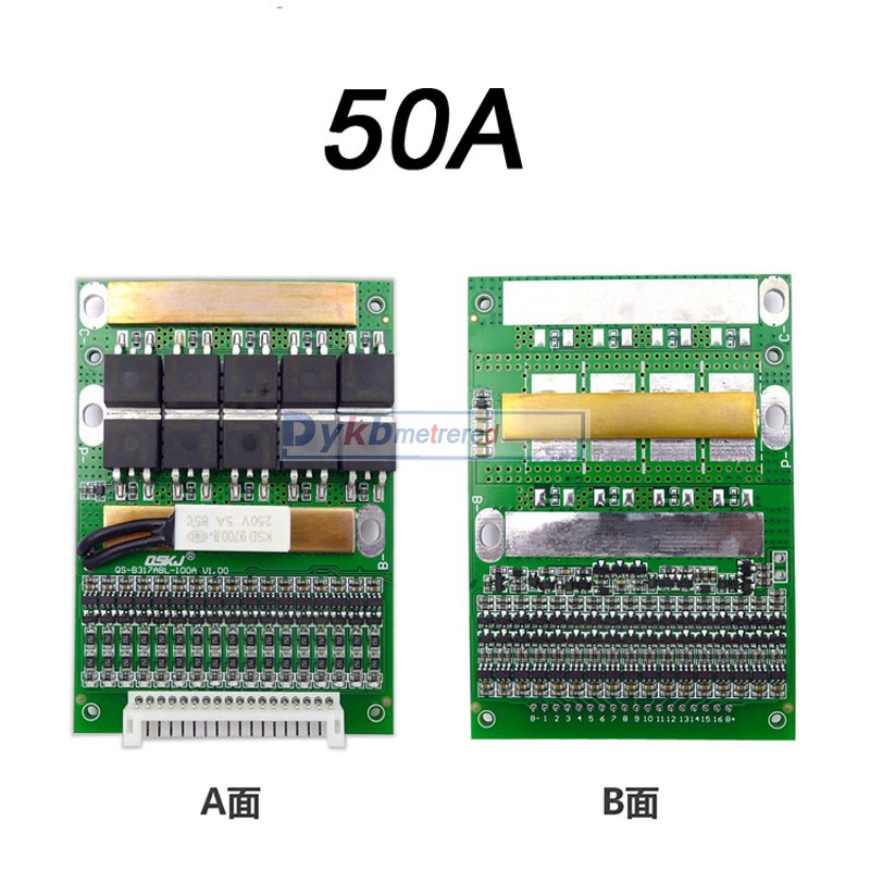 Image 4 - DYKB 6S 17S 50A 80A 120A w/Balance BMS LiFePO4 Li ion lithium battery protection Board 24V 36V 48V 60V 7S 8S 10S 12S 13S 14S 16SBattery Accessories   - AliExpress