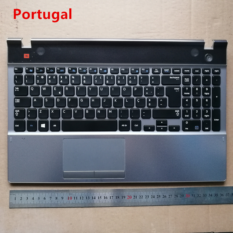 Portugal/Brazil BR LAYOUT New laptop keyboard with touchpad palmrest for  SAMSUNG Series 5 550P5C NP550P5C
