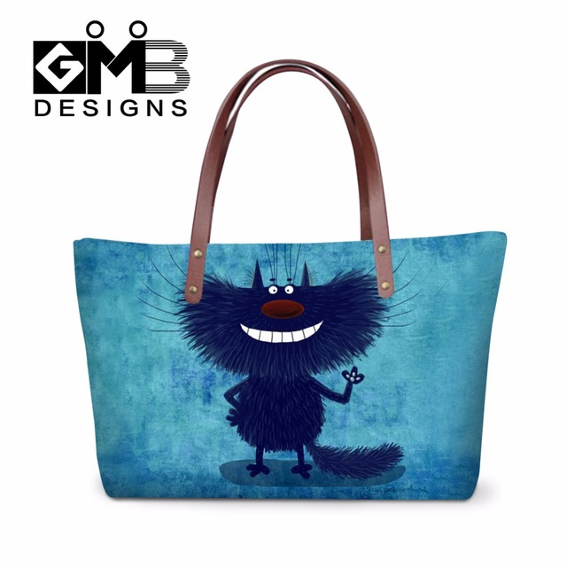 Cute Cartoon Shoulder Handbags For S Ager Large Summer Beach Tote Bags Women Waterproof Side