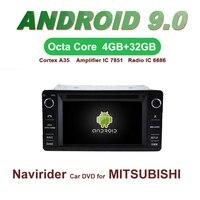 ELANMEY автомобилей gps навигация для MITSUBISHI OUTLANDER LANCER ASX 2013 android 9,0 сенсорный экран DVD Мультимедиа Радио головного устройства