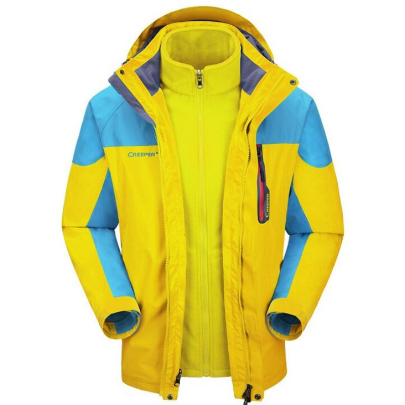Veste de Ski homme hiver imperméable chaud snowboard hommes tenue de ville deux pièces polaire doublé coupe-vent Jaqueta Masculino