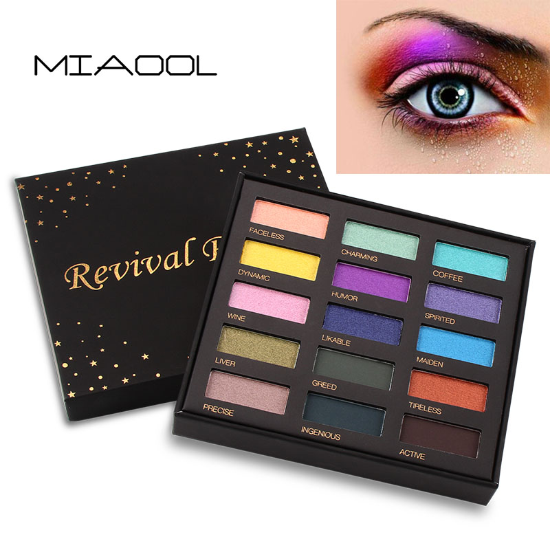 Beauty & Health Eye Shadow Fashion Style Miaool 15 Colors Shimmer Eyeshadow Palette Waterproof Gold Purple Blue Eyeshadow Powder Mineral Brighten Smoky Eyeshadow Mn103
