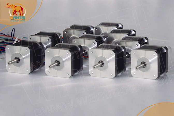 Russia free ship! Wantai 10PCS Nema 17 Stepper Motor42BYGHW811 70oz-in 48mm 2.5A CE ROSH ISO CNC 3D Printer high 3 pcs nema 17 stepper motor 70oz in 2 5a cnc cutting