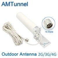 3 gam 4 gam ăng-ten bên ngoài GSM LTE 1800 Mhz antenna 4 gam hiện đại antenna với N nối 10 mét làm việc đối với repeater booster