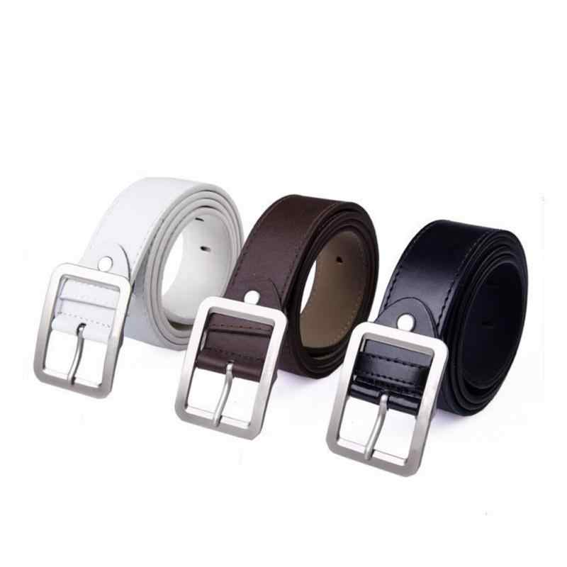 Men's Belts Belts New Fashion Casual Men Belts Faux Pu Leather Luxury Fashion Punch Male Belt Buckle Waist Strap Men Belt