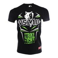 MMA Jerseys VSZAP STRIKE MMA FIGHT mma rashguard muay thái áo sơ mi tay áo T-Shirt combat tập thể dục jujitsu Cotton Thoáng Khí