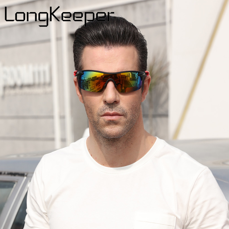 LongKeeper Polarized Men Sunglasses Sports Oversized Square Driver Fishing Sun Glasses HD Lens Womens Designer Mens Plastic 1010