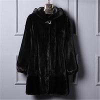 New 2018Plus size S 6XL Women Winter Loose Faux Fur Coat with a hood Long Warm Fake Fur jackets Outerwear Coats
