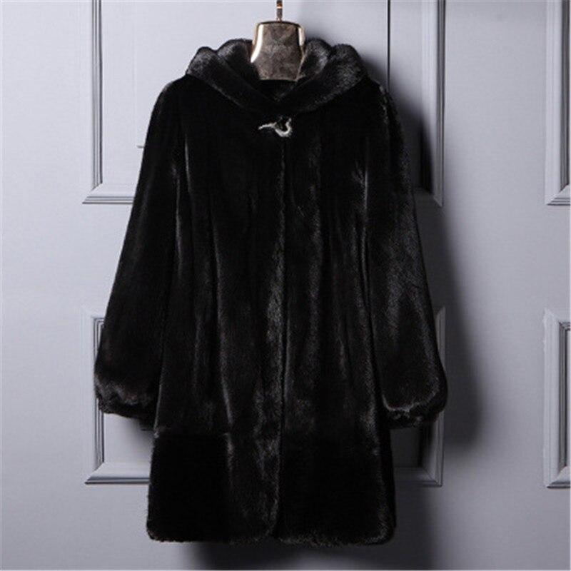 Nouveau 2018 Plus La taille S-6XL Femmes D'hiver Lâche Faux Manteau De Fourrure avec un capot Long Chaud Faux Fourrure vestes de Survêtement Manteaux