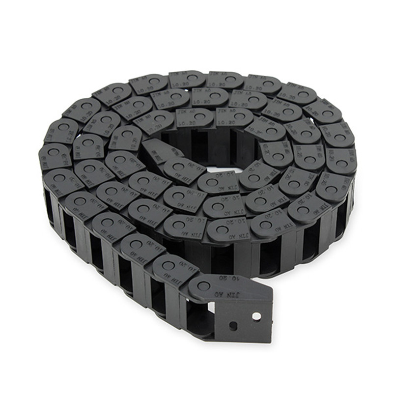 10 x 20mm 10*20mm L1000mm Plastic Nylon Cable Drag Chain Wire Carrier for CNC Router Machine Tools 10 x 20mm 10 20mm l1000mm plastic nylon cable drag chain wire carrier for cnc router machine tools