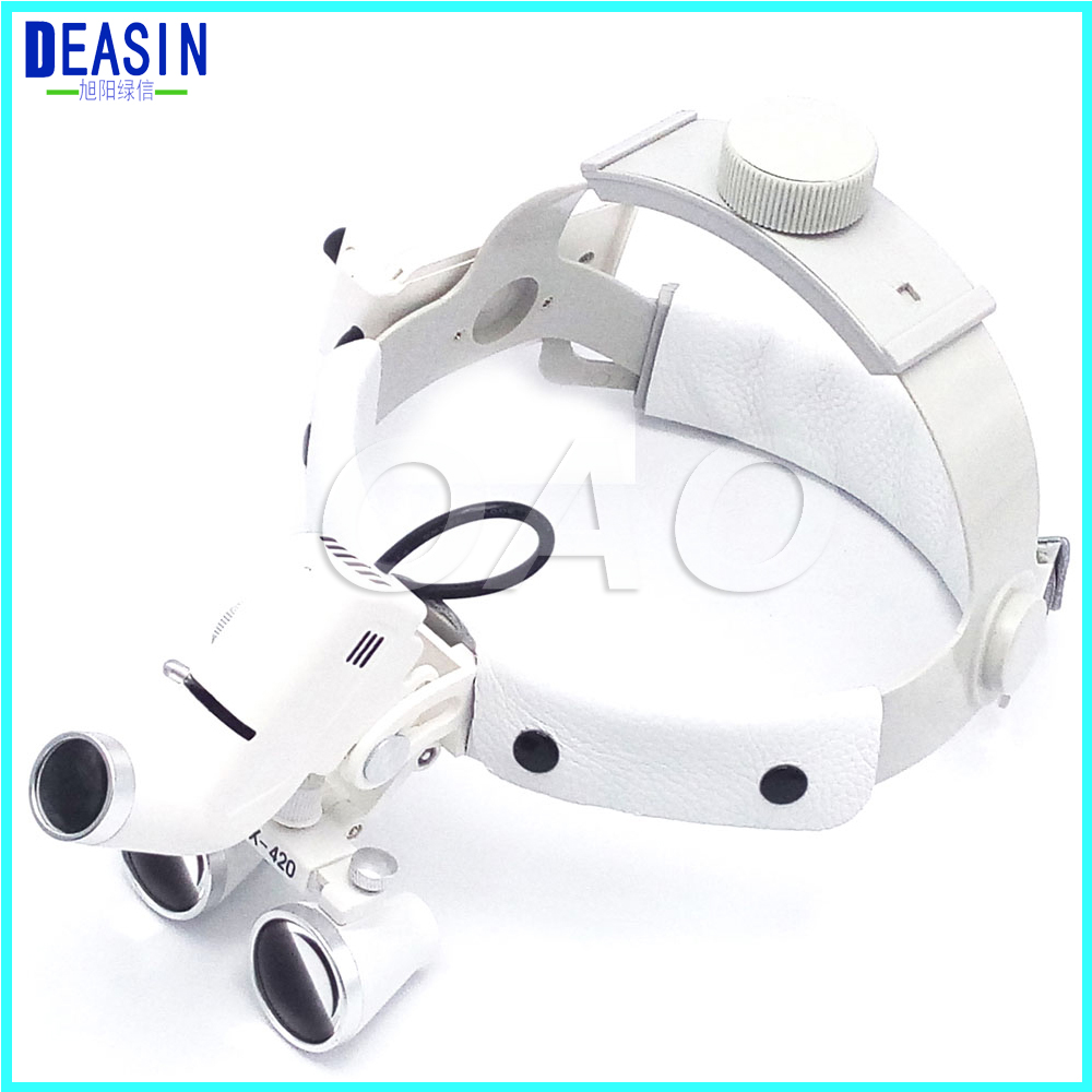 High Quality Dental Surgical Binocular 2.5 X 420mm Medical Magnifier All In Ones Operation Lamp Surgical LED Headlight White