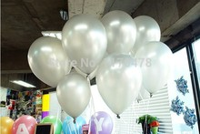 100pc Silver color Latex Helium Inflable Ball Ballon Wedding Party supplies And Birthday Decoration Pearl Balloon