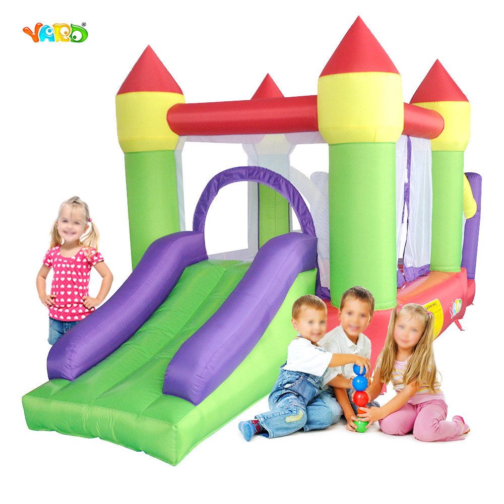 YARD Bouncy Castle With Inflatable Slide And Trampoline Inflatable Pool Inflatable Bounce House residebtial blue star bounce house inflatable trampoline for kids jumpling castle inflatable slide bouncy castle