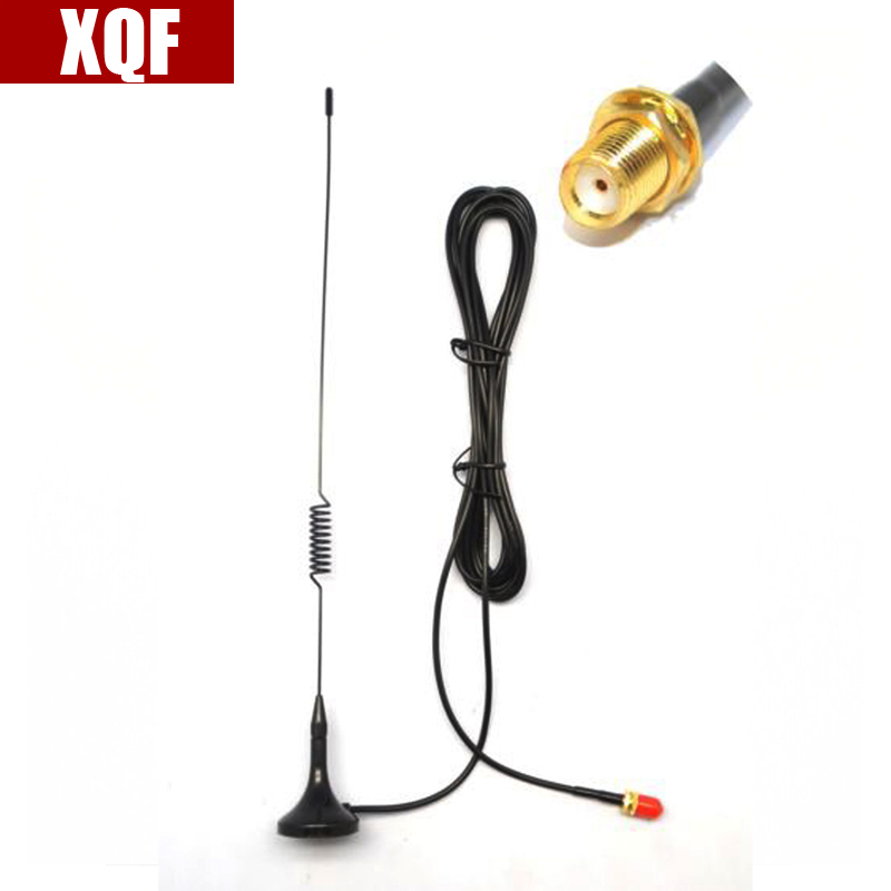 XQF 10PCS  NA UT-102 UV SMA-Female Dual Band Car Magnetic Antenna For BaoFeng UV-5R 888S Two Way Radio For Kenwood Walkie Talkie