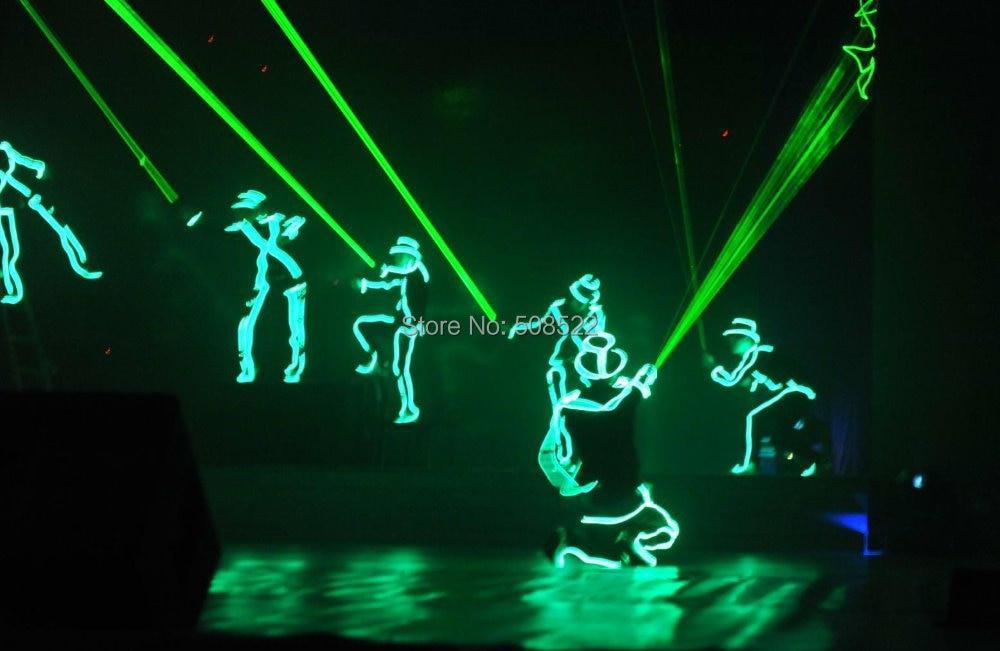 Illuminated costume EL wire robot set for DJ/DS/ luminous costume Size/ color customized