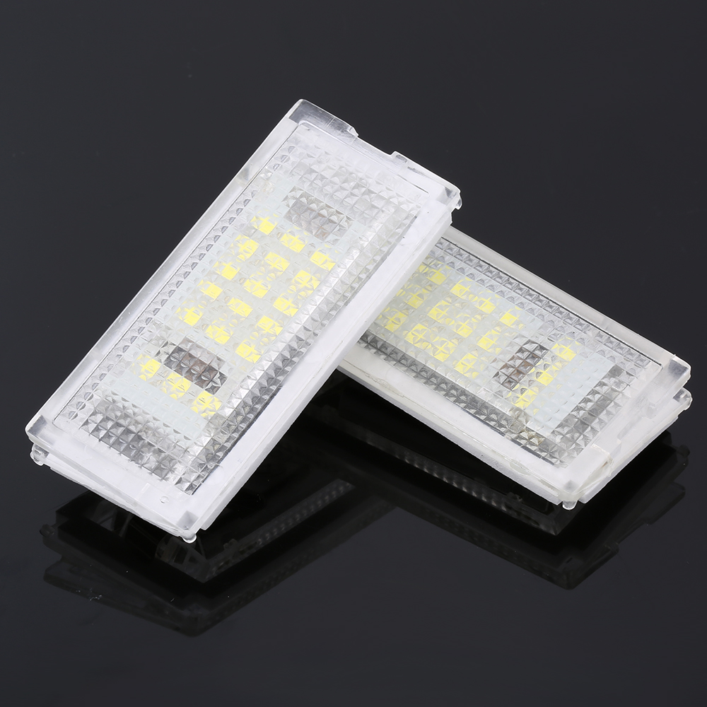 2x NUMBER PLATE 36MM 6 LED LIGHT WHITE CANBUS FREE ERROR VOLVO S80 II 2006-2011
