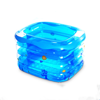 2019 New Thickening Rectangular Baby Swimming Pool Inflatable Household Insulated Four Rings