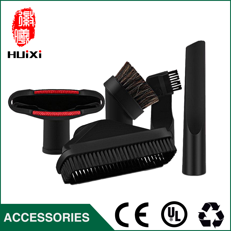 Universal vacuum cleaner parts inculde horsehair round brush, sofa brush and flat nozzle for 32mm vacuum cleaner parts