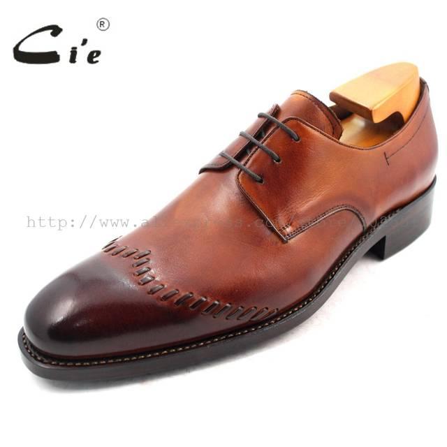 6b4ba1a95307 placeholder cie Goodyear Welted Narrow Shoe Last Custom Handmade Pure Genuine  Calf Leather Men s Dress classic