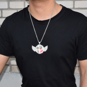 Image 3 - Angel Wing Custom Photoจี้เหรียญจริงเครื่องประดับHip Hop