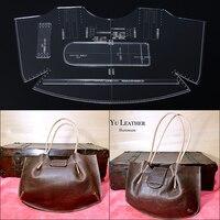 1 компл. женская сумка на одно плечо сумка-тоут акриловая прочная модель DIY ручной кожаный дизайн шаблон 46,5*28,5*15 см