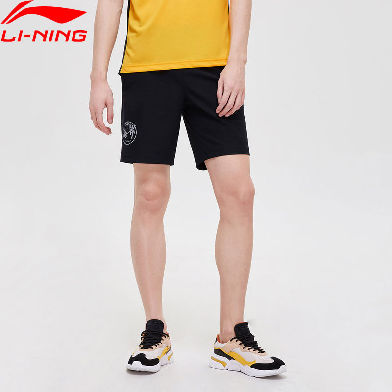 Li-Ning Men Training Knit Sports Shorts Breathable Slim Fit 77%Nylon 23%Spandex LiNing Li Ning Sports Shorts AKYP013 MKY503