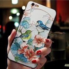 3D Kabartmalı Çiçek TPU Samsung Galaxy S8 S9 Artı A5 A3 A7 A6 A8 Artı 2018 Not 8 9 için iPhone X XS Max XR 7 8 6 6 Artı Durumda