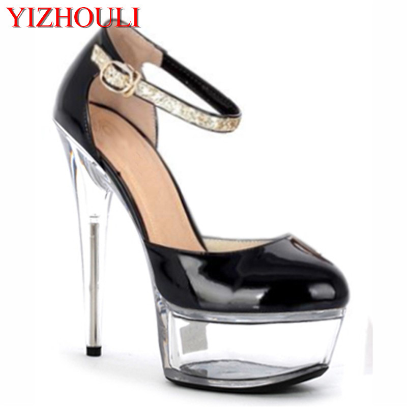 Diligent 15cm Super Sexy High-heeled Shoes Crystal Sandal Shoes Performance 6 Inches Toes Princess Dancing Shoes At All Costs Other