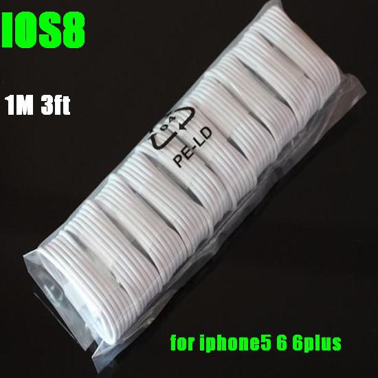 For IOS10 Fast Shipping 100pcslot For iPhone 7 6 6plus 5S 5C Cable USB Charger Cable