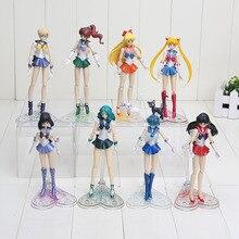 15cm 6inches Anime Sailor Moon Mercury Mars Venus tuxedo mask PVC Action