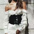 Corset Waist Belt Fashion Bandage Women's Belt Slim All Matches Wide Belt Suede Girdle