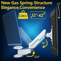 32 42 Full Motion Gas Spring TV Wall Mount Rotating LCD LED Monitor Holder Bracket WM4021