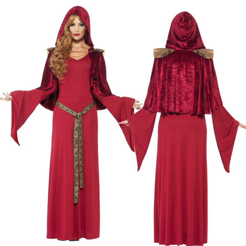 new Halloween luxurious European medieval court aristocratic queen dress Little Red Riding Hood cosplay Christmas Party Costume