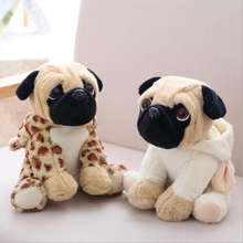 20cm Simulation Dogs Plush Toys Sharpei Pug Lovely Puppy Pet Stuffed Animal Plush Doll Children Kids Birthday Christmas Gifts цена 2017