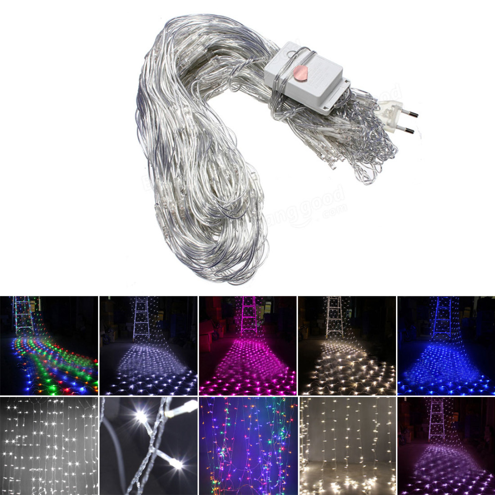 220V LED Net Light 1.5M x 1.5M 100 LEDs Xmas Fairy Lights EU Plug