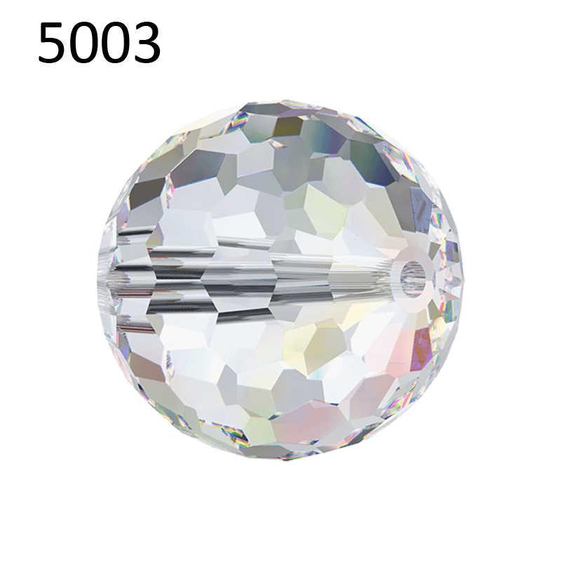 """(1 piece) 6 מ""""מ 8 מ""""מ 10 מ""""מ קריסטל סברובסקי 5003 דיסקו כדור חרוזים תוצרת אוסטריה loose חרוזים ריינסטון DIY תכשיטי ביצוע"""