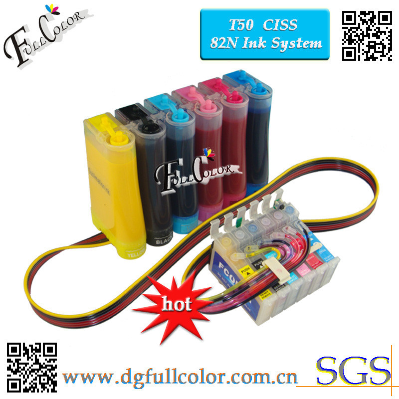 Бесплатная доставка сублимационная СНПЧ чернильная система для термопечати T50