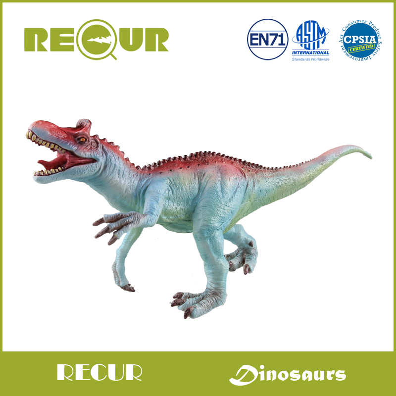 Recur Jurassic Dinosaur Cryolophosaurus Hand Painted Animal Model Action Figures PVC Soft Toy Collections Christmas Gift For Boy купить